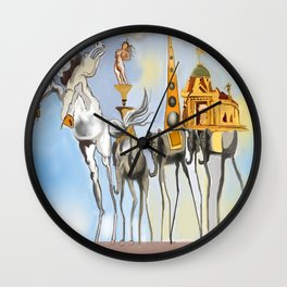 The Horse and Elephants Wall Clock