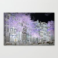 amsterdam Canvas Prints featuring Amsterdam by DuniStudioDesign