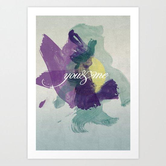 you&me Art Print