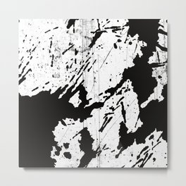Black and white world Metal Print