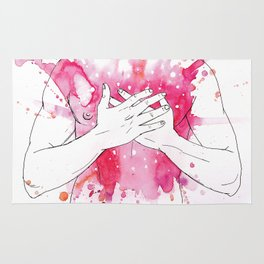 exploding heart Rug