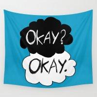 okay Wall Tapestries featuring Okay? Okay.  by Tangerine-Tane