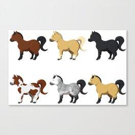 Little ponies Canvas Print