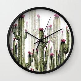 Cactus landscape Wall Clock