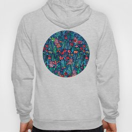 Tropical Ink - a watercolor garden Hoody