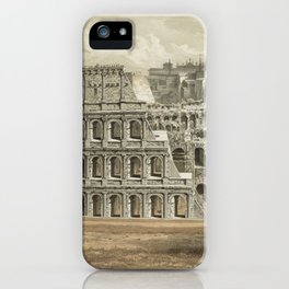 Vintage Illustration of The Roman Colosseum (1872) iPhone Case