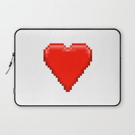 Retro Video Game Heart Pixel Art Laptop Sleeve