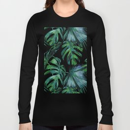 Tropical Palm Leaves Classic Long Sleeve T-shirt