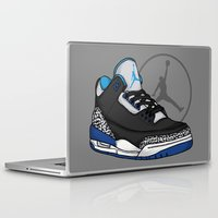 sport Laptop & iPad Skins featuring Jordan 3 (Sport Blue) by Pancho the Macho