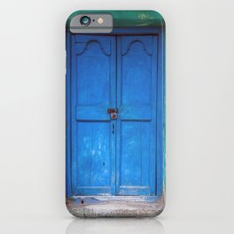 Blue Indian Door iPhone Case