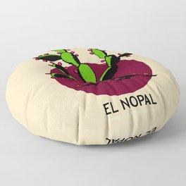 El Nopal Mexican Loteria Card Floor Pillow