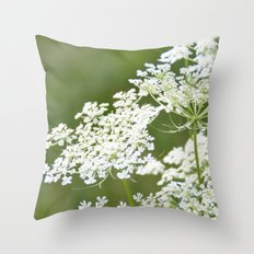 Sweet Queen Anne's Lace Throw Pillow