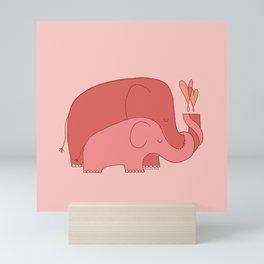 Pink Elephants Mini Art Print