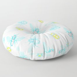 Bee Pattern Floor Pillow