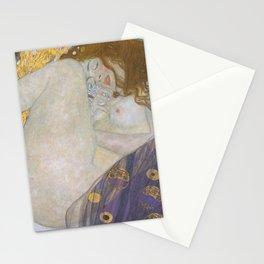 Danae by Gustav Klimt Stationery Cards