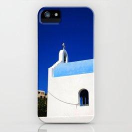 Chapel Nemo Sky Mykonos iPhone Case