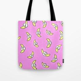 Crazy Pink Bananas Tote Bag