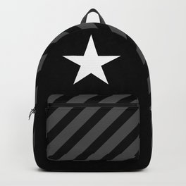 White star on black background Backpack