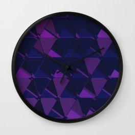 3D Futuristic GEO BG IV Wall Clock
