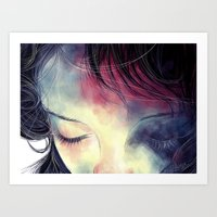sleep Art Prints featuring Sleep  by margaw