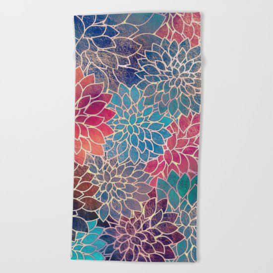 Floral Abstract 8 Beach Towel