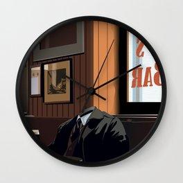 A quiet pint Wall Clock