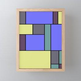 Mondrian #55 Framed Mini Art Print