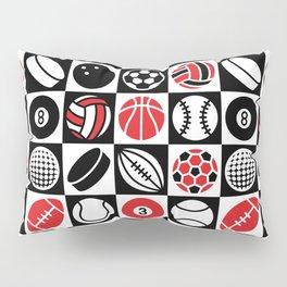 Sport Ball Checkerboard Pillow Sham