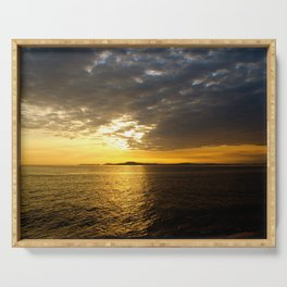 Storm at Sunset Serving Tray