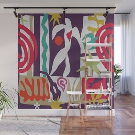 Inspired to Matisse (violet) Wall Mural