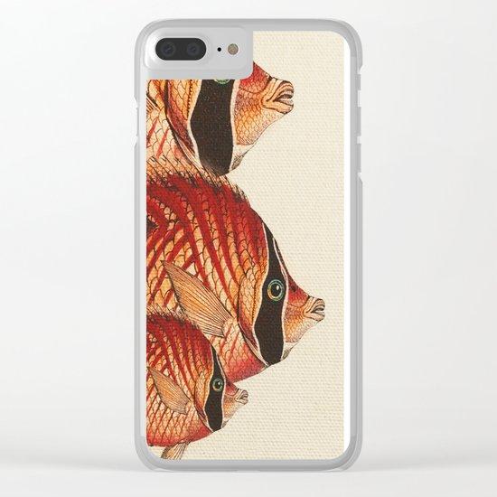 Fish Classic Designs 2 Clear iPhone Case