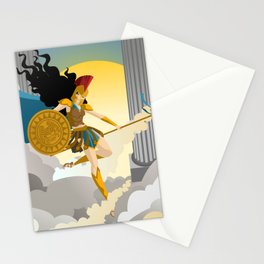 palas athena minerva goddess Stationery Cards