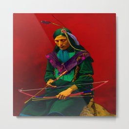 Cherokee Indian Pop Art Metal Print