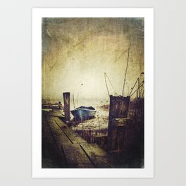 Rugged fisherman Art Print