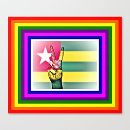 Togo World Peace Flag Canvas Print