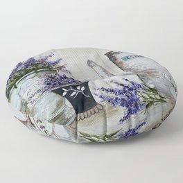 Lavender, vintage Floor Pillow