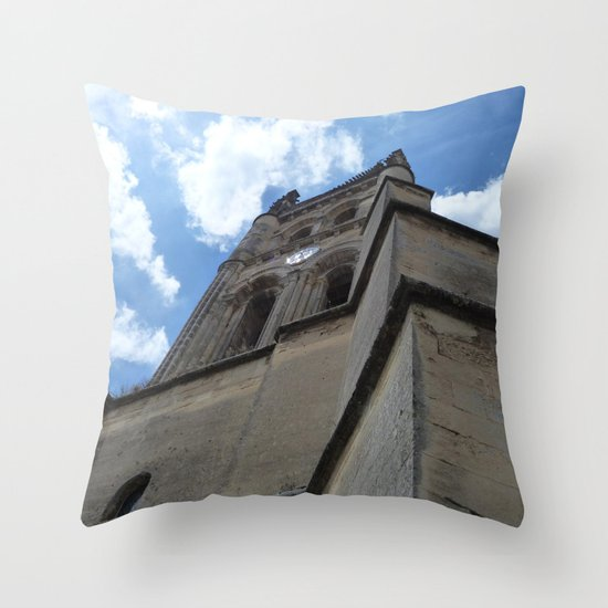 Saint Emilion spire Throw Pillow