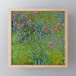 """Claude Monet """"Agapanthus Flowers"""" Framed Mini Art Print"""
