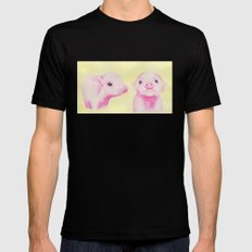 Baby Piglets Black Mens Fitted Tee MEDIUM