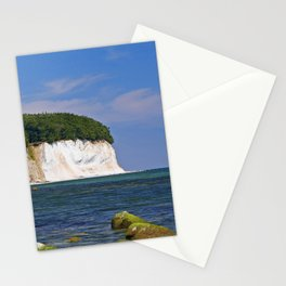Chalk coast, Ruegen in Germany Stationery Cards