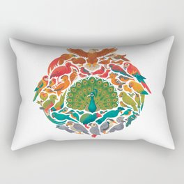 Aerial Rainbow : white Rectangular Pillow
