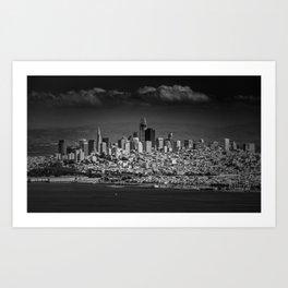 Black and White dramatic city of San Francisco Art Print