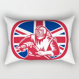 British Sandblaster Union Jack Flag Rectangular Pillow