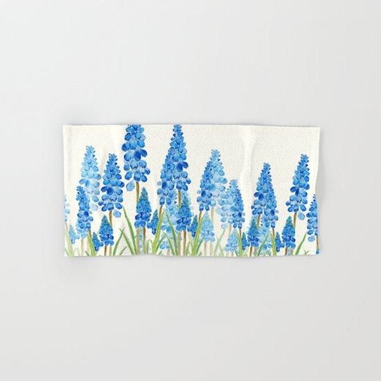blue grape  hyacinth forest Hand & Bath Towel