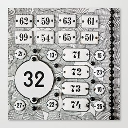 Number 32 Canvas Print