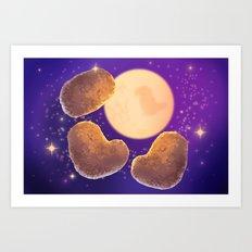 Three Nugget Moon Art Print