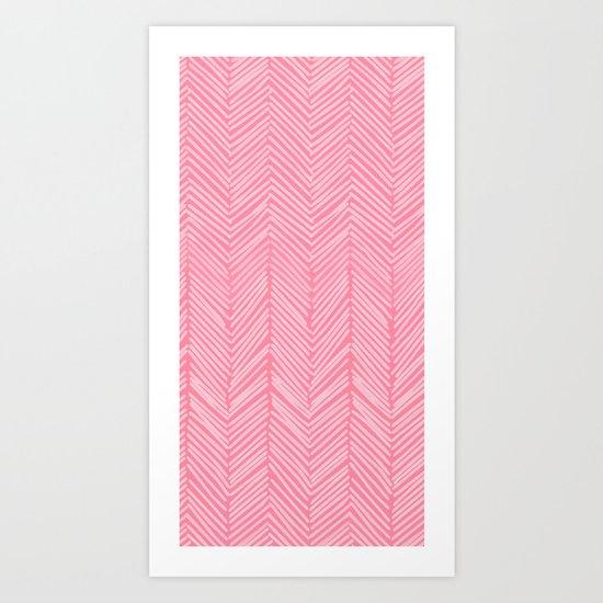 Freeform Arrows in lipstick Art Print