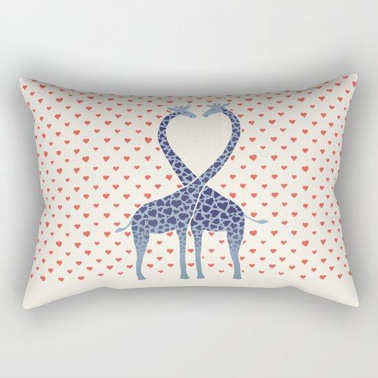 Giraffes in Love - a Valentine's Day illustration Rectangular Pillow