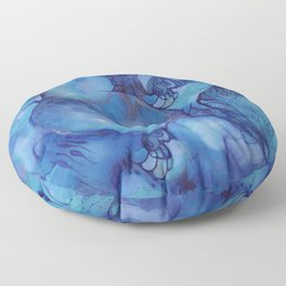 Blue happiness or when you feel blue but not sad Floor Pillow
