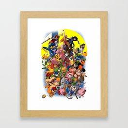 Smash Bros Melee! Framed Art Print